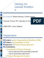 A Protocol Ontology for Inter Organizational Workflow Coordination