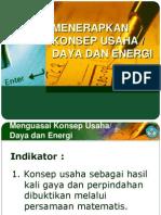 1a Menerapkan Konsep Usaha, Daya Dan Energi