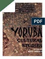Yoruba Cultural Studies