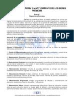 Ley de Conservacion y Mantenimiento de Los Bienes Publicos