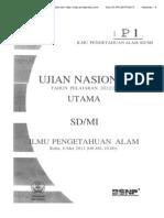 Soal Un Ipa Sd p1 2013