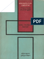 Maurice Duverger - Diktatörlük Üstüne