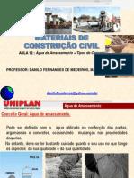 Aula de MAteriais de Construção _12(água de Amassamento +tipos de Concreto)