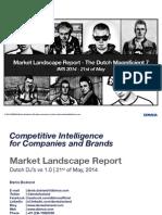 Social Media Overview - 7 Dutch DJs - May 2014