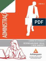 Cead 20122 Administracao Pa - Administracao - Responsabilidade Social e Meio Ambiente - Nr (Dmi789) Caderno de Atividades Impressao Adm2 Responsabilidade Social Meio Ambiente