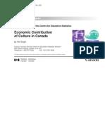 Economic Contribution of Culture in Canada