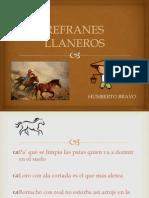 REFRANES LLANEROS