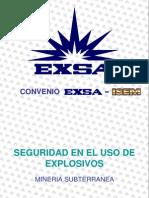 Seguridad. Explosivos 2014