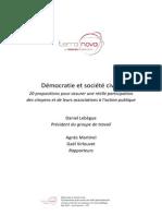 Terra Nova - Rapport Démocratie Et Société Civile