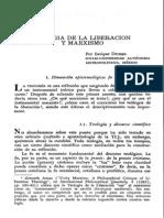 Teología de La Liberación y Marxismo - E. Dussel