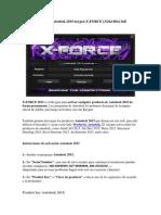 Activar Productos Autodesk 2015 Keygen X