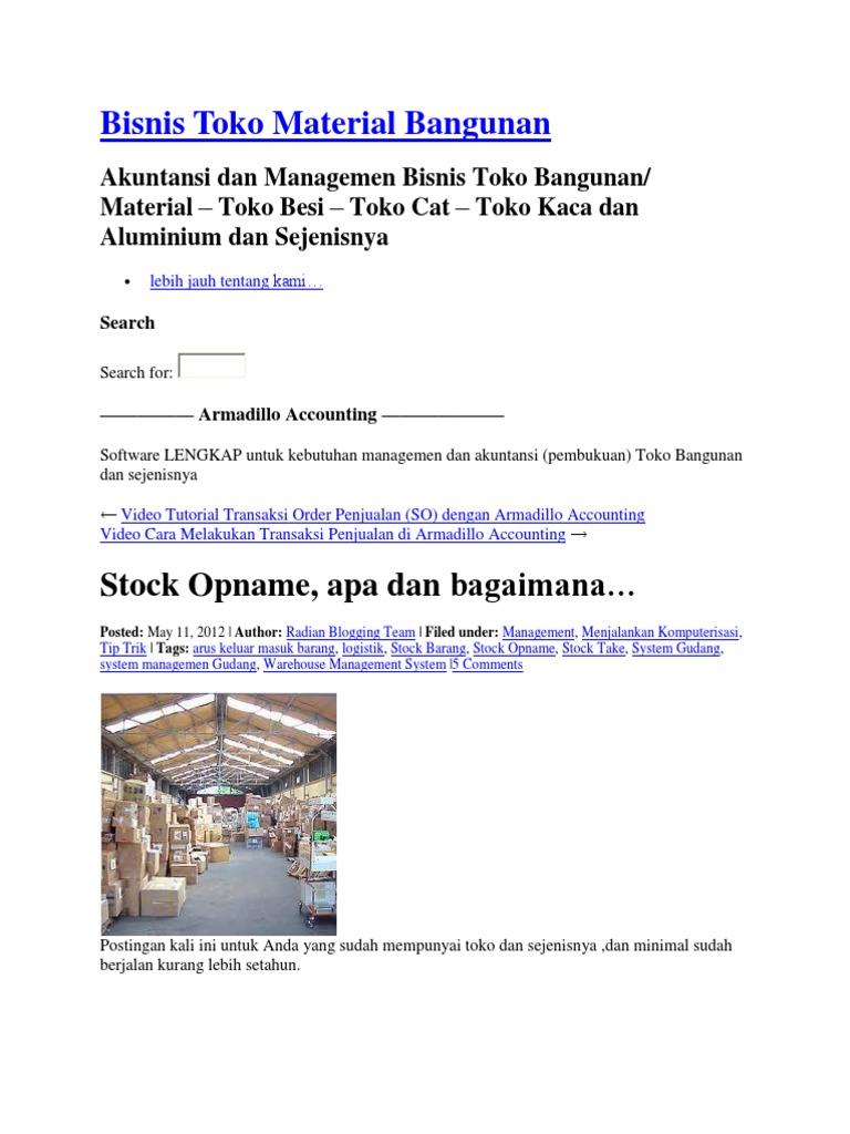 Bisnis Toko Material Bangunan