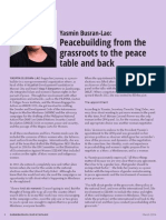 Peacebuilding from the Grassroots to the peace table and back