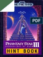 Phantasy Star III - Generations of Doom Official Hint Book