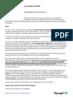 Francisco v. House of Representatives (Case Summary)
