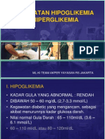 KEGAWATAN HIPOGLIKEMIA & HIPERGLIKEMIA