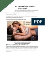 El Sexo Afecta El Crecimiento Muscular