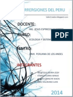 Ecorregiones Del Perú Trabajo