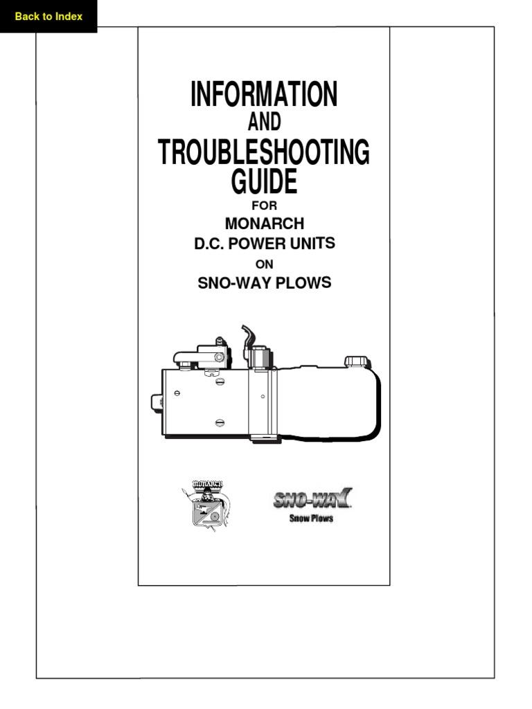 Monarch Repair Manual Valve Pump Snoway Wiring Diagram