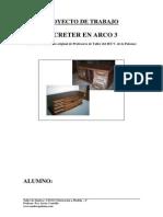 13 Proyecto Trabajo Planos Secreter Arco 03 Madera