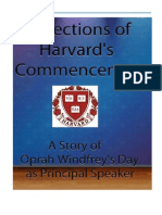 Reflections on Harvard's Commencements and a Story of Oprah Windfrey's Day as Principal Speaker
