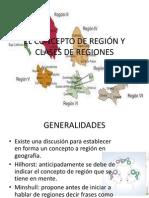 Concepto de Region