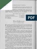 City Profile West Hollywood California 1924 by G.L. Schmutz Realtor