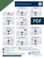 2014 Social Security Benefits Calendar