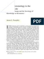 From Epistemology to the Avant-garde - Marcel Duchamp and the Sociology of Knowledge in Resonance (2003 Theory, Culture And