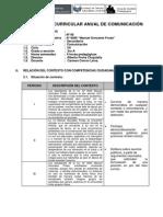 Programación Curricular Anual de Comunicación 3ro Con Rutas