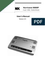 Manual prolink hurricane UM_H9000P