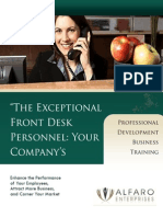 Receptionist and Frontdesk Training Workshop