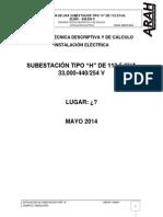 Memoria Tecnica Subestacion Tipo h