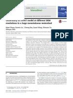 Uncertaintu of SWAT Model at Different DEM Resolutin