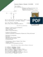 A Consagração de Instrumentos Mágicos e Talismãs - 18.10.2009