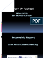MGT619 MIS Internship Report Al Falah Bank