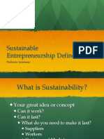 Sustainable Entrepreneurship Defined