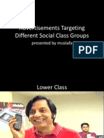 Advertisements Targeting Different Social Class Groups