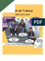 Plan de Trabajo Súmate REA 2014-2015