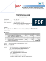 140214 Proforma Invoice (for 8 Colors Printing Machine)