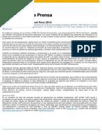 CIO Summit - Comunicado Prensa