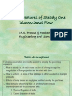 General Features of Steady One Dimensional Flow