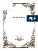 Genealogical Records Definitions