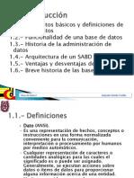 Bases de Datos Capitulo 1