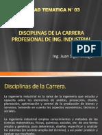 Disciplinas de La Carrera Profesional de Ing