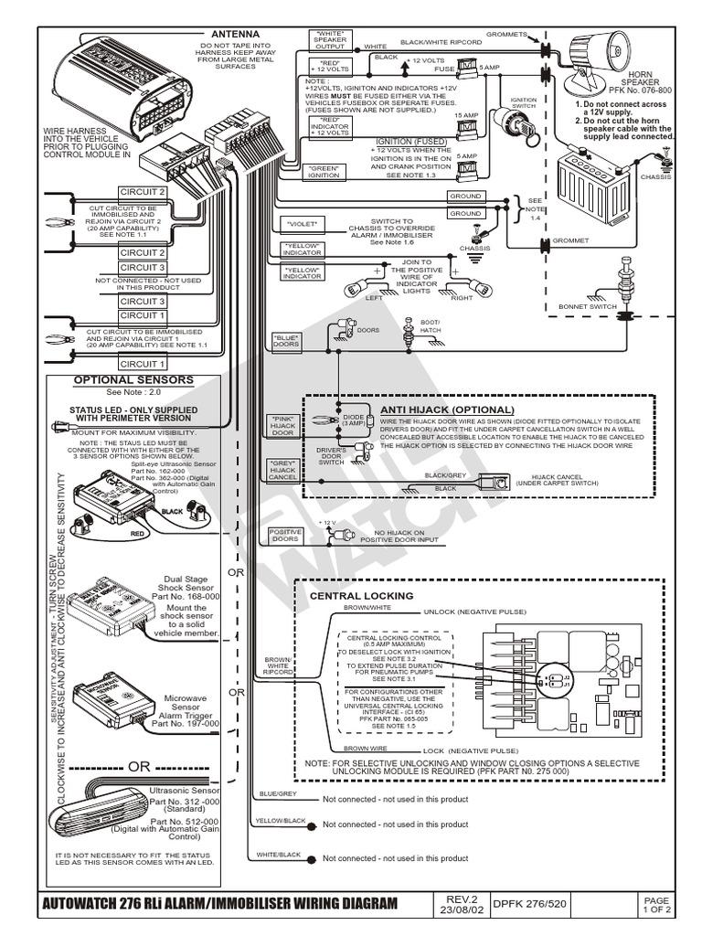 Autowatch Alarm Diagrams - Wiring Diagrams Hidden on