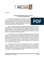 Press Release_PH Hosts UNWTO-ASEAN International Conference 21 May 2014