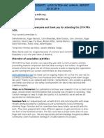 PRA Annual Chairperson's Report 2013/14