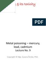 MERCURY LEAD ARSENIC CADMIUM TOXICITY