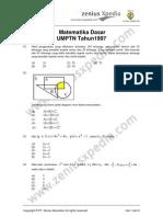 Matematika Dasar SPMB 1997